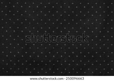 abstract geometric black and white print on fabric. close up - stock photo
