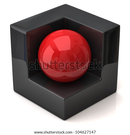 Abstract geometric figure - stock photo