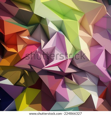 Abstract geometric low poly background. - stock photo