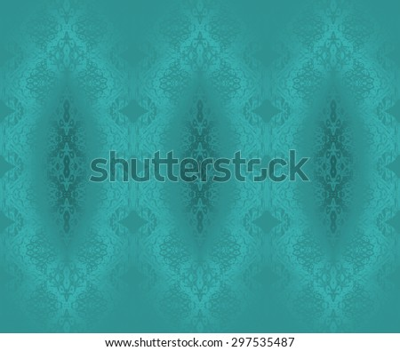 Abstract geometric monochrome background, seamless diamond pattern turquoise shining, delicate and dreamy  - stock photo