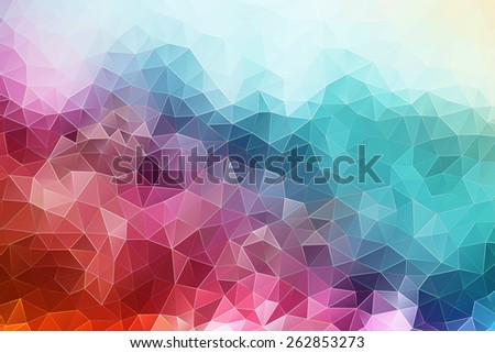 abstract geometric polygonal background  - stock photo