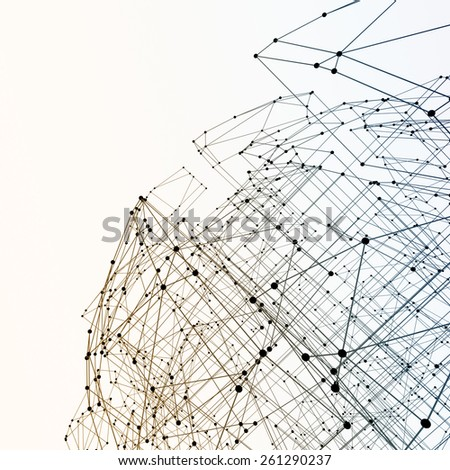 Abstract geometric polygonal structure - stock photo