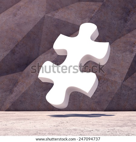Abstract geometric puzzle  background of the concrete. 3d photorealistic render.  - stock photo