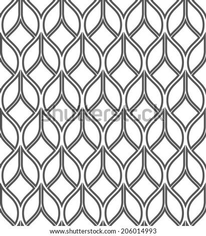 Abstract geometric seamless pattern. Black and white pattern. - stock photo