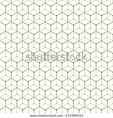 Abstract geometric seamless pattern with triangles - stock photo