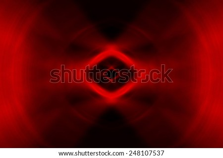 Abstract geometrical red fractal - stock photo