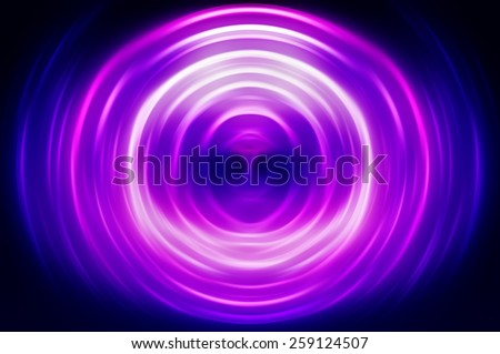 Abstract geometrical violet fractal - stock photo