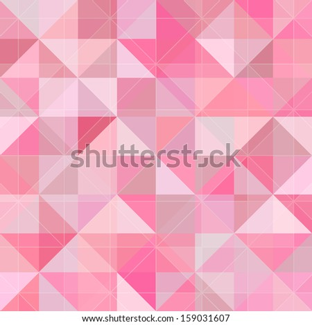 Abstract geometry pattern pink grunge background - stock photo