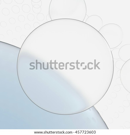 Abstract glass background. 3d render illustration - stock photo