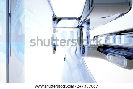Abstract glass interior - stock photo