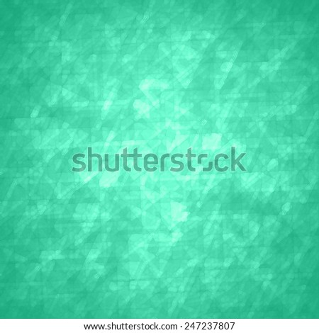 abstract glassy triangle and rectangle shapes background with blue green geometric angles and lines in fine detail pattern, shimmering glass background layout, luxury glitzy decoration - stock photo