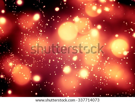 Abstract glittering lights and stars on dark background - Festive glitter vintage Christmas  lights with bokeh 