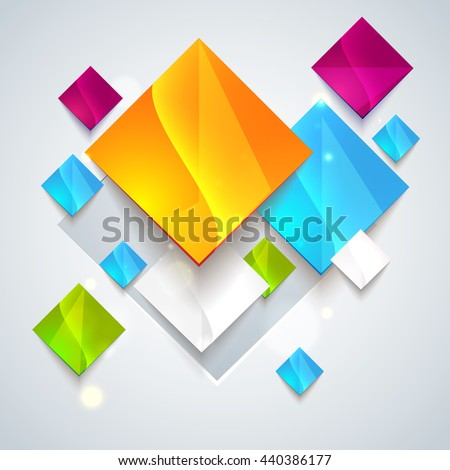 Abstract glossy geometric background. Use visit cards, flayers, backgrounds. Raster illustration for your business presentation. Minimal style design for business graphic. Raster copy - stock photo