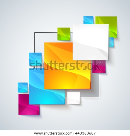 Abstract glossy geometric background. Use visit cards, flyers, backgrounds. Illustration for your business presentation. Minimal style design for business graphic. Raster copy - stock photo