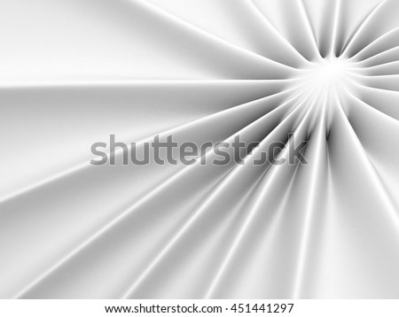 Abstract Glossy White Soft Background. 3d Render Illustration - stock photo