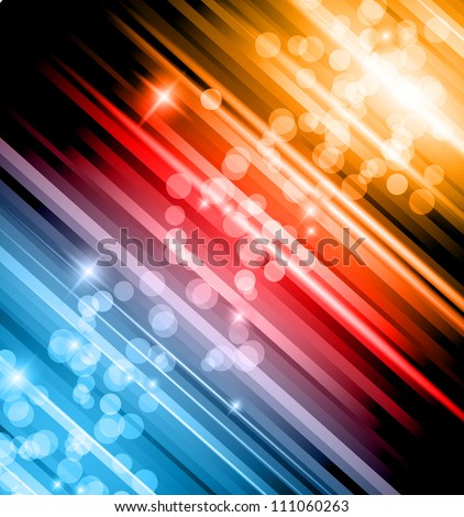 Abstract Glow of Lights background with rainbow colors and starlights. Ideal for business background, high tech covers of abstract advertising posters. - stock photo