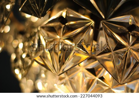 abstract glowing background, chandelier - stock photo