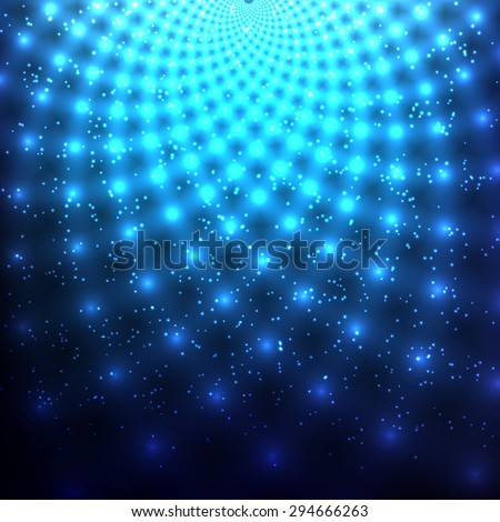 Abstract glowing background with light spots. - stock photo