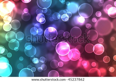 abstract glowing circles on a colorful background - stock photo