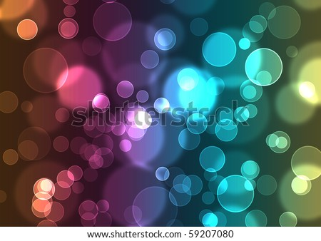 Abstract glowing circles on a colorful background like digital bokeh effect. - stock photo