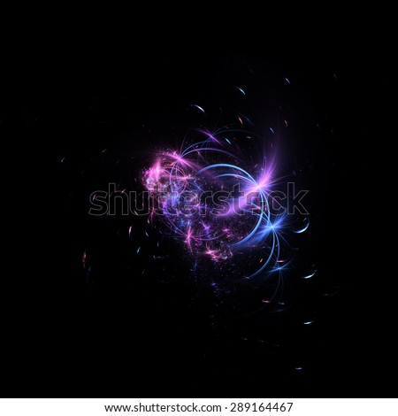 Abstract glowing pattern - stock photo