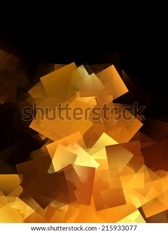 Abstract Gold and Black Design 1 - stock photo