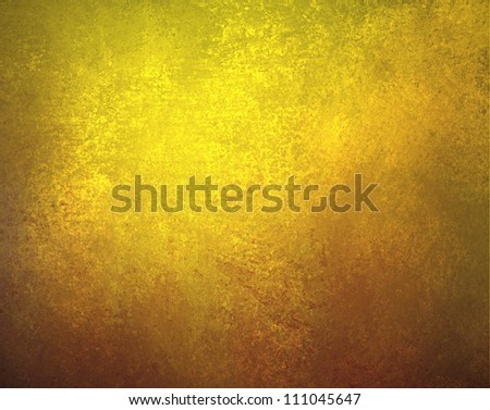 abstract gold background grungy texture with black brown border frame, old vintage background grunge for elegant Christmas background or web template of distressed faded edge and blank solid copyspace - stock photo
