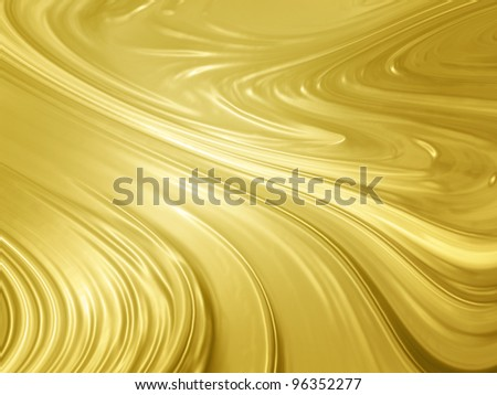 Abstract gold background - liquid golden metal texture - stock photo