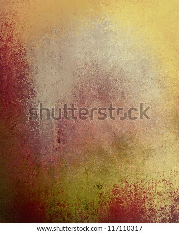 abstract gold background red paper design of faded yellowed old distressed antique or vintage grunge background texture layout of wall wallpaper or parchment with for grungy rustic banner poster ad - stock photo