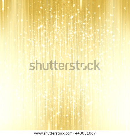 abstract gold background with some sparkles - stock photo