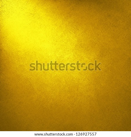 abstract gold background yellow color, light corner spotlight, faint vintage grunge background texture gold yellow paper layout design for warm colorful background, rich bright sunny color, summer ad - stock photo