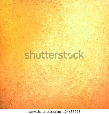 abstract gold background yellow orange, light faint vintage grunge background texture gold yellow paper layout design, warm background bright sunny halloween fall background autumn color paint wall - stock photo