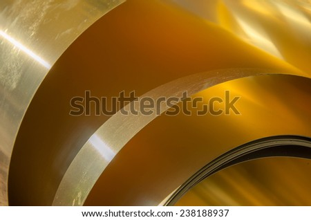Abstract gold fold background - stock photo