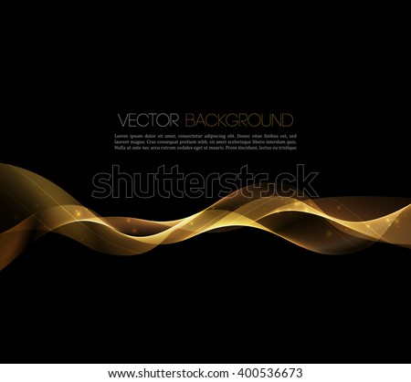 Abstract gold luxury wave layout background. illustration. - stock photo