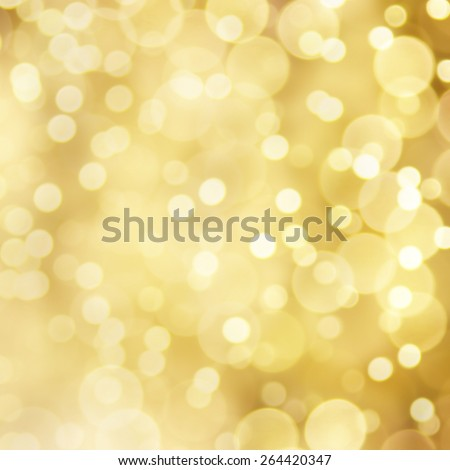 Abstract golden bokeh background. Blurred effect was applied. - stock photo