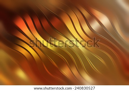 abstract golden elegant background with waves and lines - stock photo