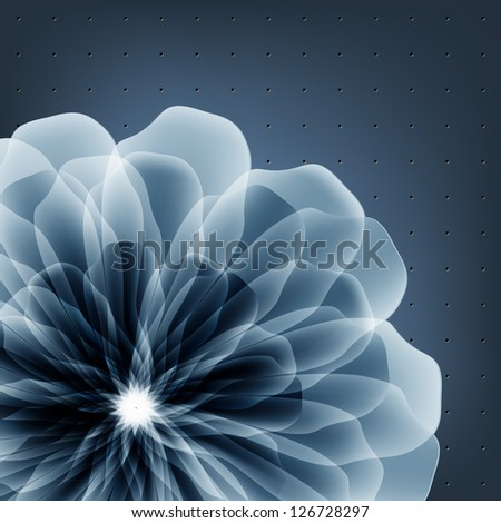 Abstract golden flower. Raster copy of vector image. - stock photo