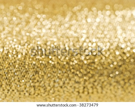 Abstract golden glitter soft focus background - stock photo