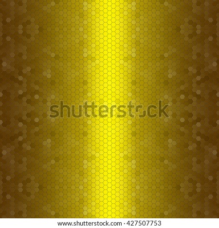 Abstract golden pattern of hexagon texture background - stock photo
