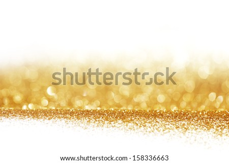 Abstract golden shiny background with white copy space - stock photo
