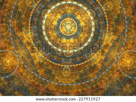 Abstract golden sun background - stock photo