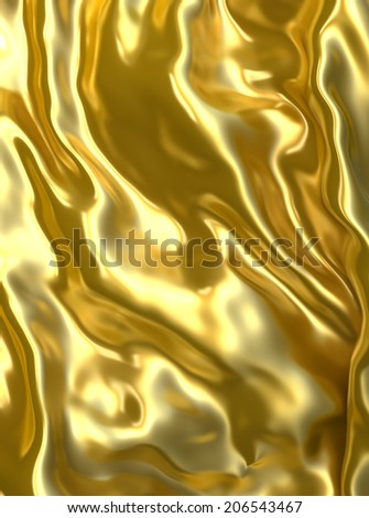 Abstract golden waves cloth background. - stock photo