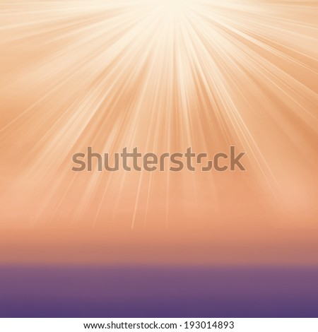 Abstract gradient textured background with sun light burst. Typographical background with blurred bokeh lights.  - stock photo