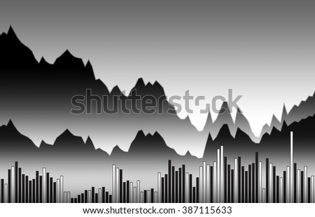 Abstract graph chart of crude oil price stock exchange trading - stock photo