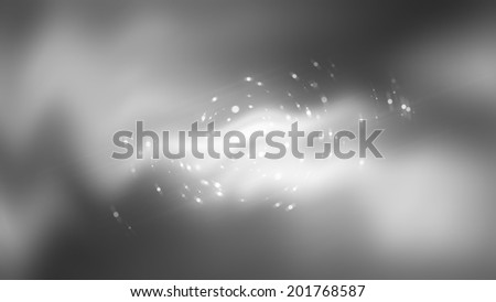 Abstract gray neon background with circles and lines - stock photo