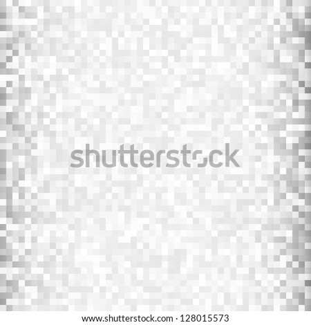 Abstract gray pixelated background, raster illustration - stock photo