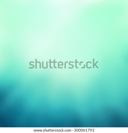 abstract green and blue background with streaked rays of soft light  - stock photo