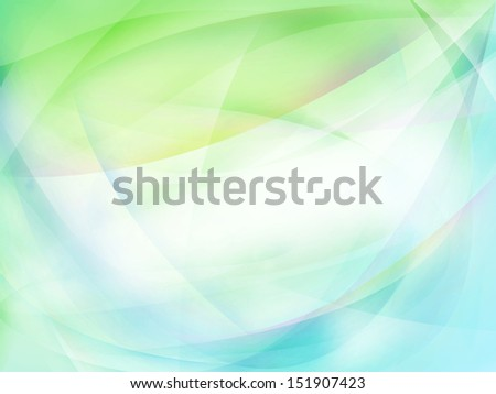 Abstract green and blue lines background. Copy space  - stock photo