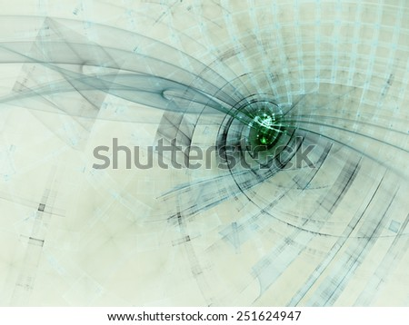 Abstract green and white background - stock photo