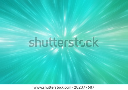 abstract green background. explosion star - stock photo